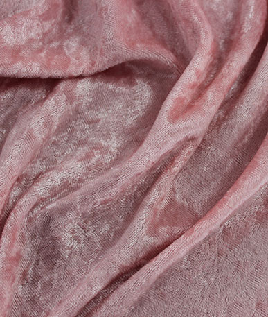 Crushed Velvet Plain Dyed - Peach Pink