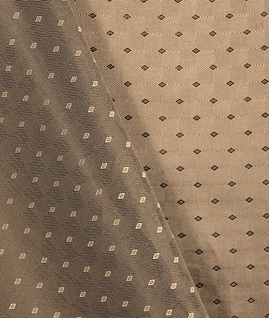 Quality Italian Lining Fabric - Beige Diamond