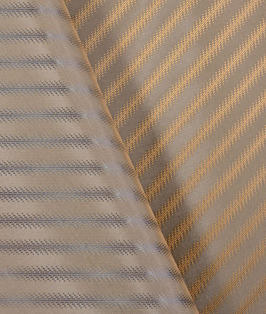Quality Italian Lining Fabric - Bronze & Steel Lines