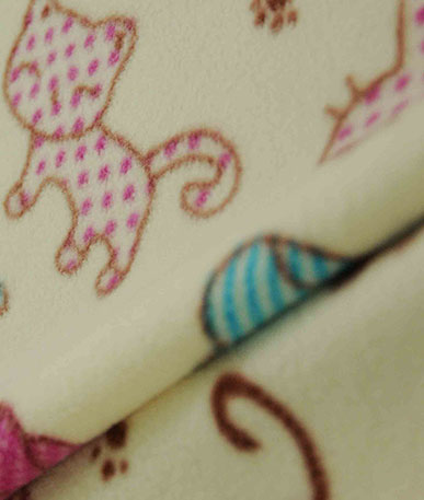 Cute Cats Fleece Fabric - Multicolour