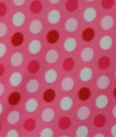 Pink Spotty Fleece Fabric