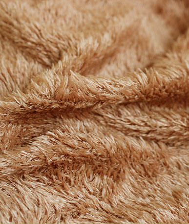 Teddy Bear Stretchy Fun Fur (D) - Light Brown