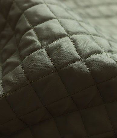 Clearance Quilted Polyester 1cm box(D) - Green