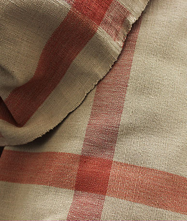 Clearance Linen (D) - Beige/Red