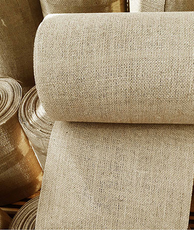 Pelmet Buckram Hessian  - Natural