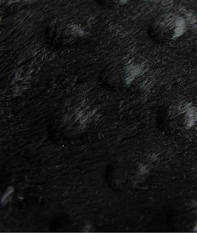 Dimple Fleece Fabric - Black