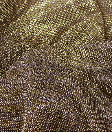 Lurex Metallic Mesh  - Gold