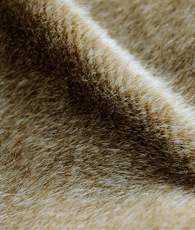 Short Pile Fur Animal Replica (D) - Beige