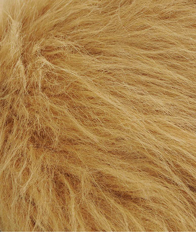 Lions Mane Fur Fabric - Sandy Brown