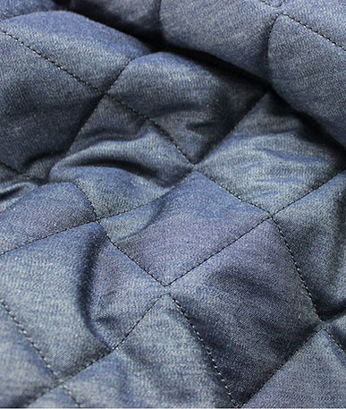 Quilted Denim Chambray - Blue