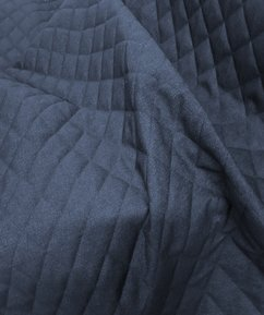12oz Denim Quilted Fabric - Denim Blue