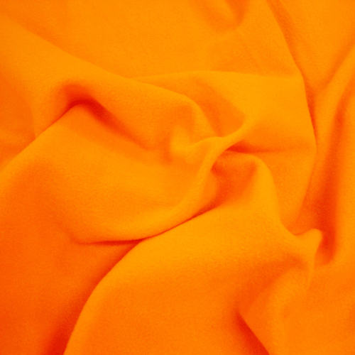 Hi-Vis Fleece Fabric - Hi Vis Orange