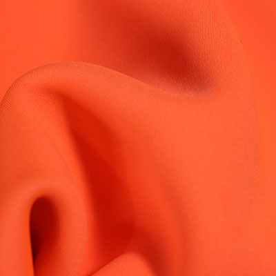 Hi-Vis Neoprene Water Resistant Fabric - Flo Orange