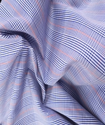 Madras Check Fabric - Blue