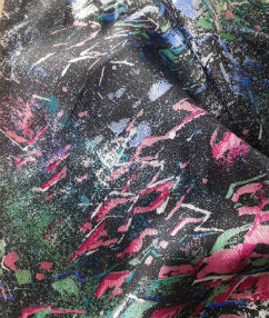 Abstract Splatter Lining - Black multi