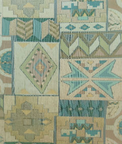Aztec Woven Upholstery Fabric - Multi