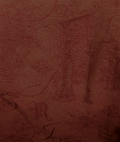 Russett Picture Upholstery Fabric - Russet