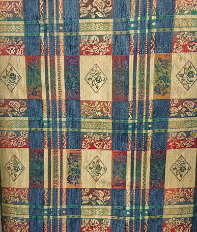 Tartan Tapestry Style Fabric - Dark Multi