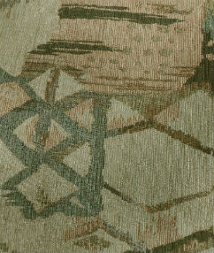 Diamond Brush Strokes Upholstery Fabric - Honey/Green