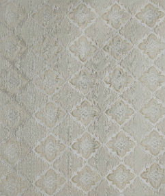 Cream Geometric Flower Upholstery Fabric  - Cream