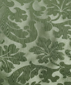 Olive Green Leaf Curtain Fabric - Olive Green