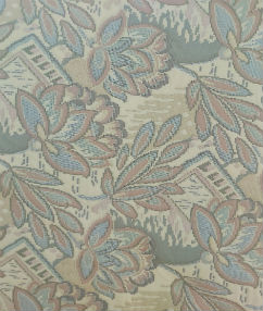 Cross Stitch Style Floral Upholstery  - Pale Multi Coloured