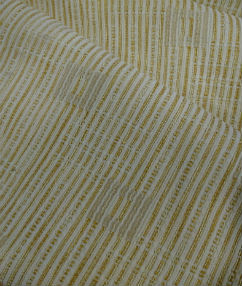 Stripe and Square Upholstery Fabric - Mustard