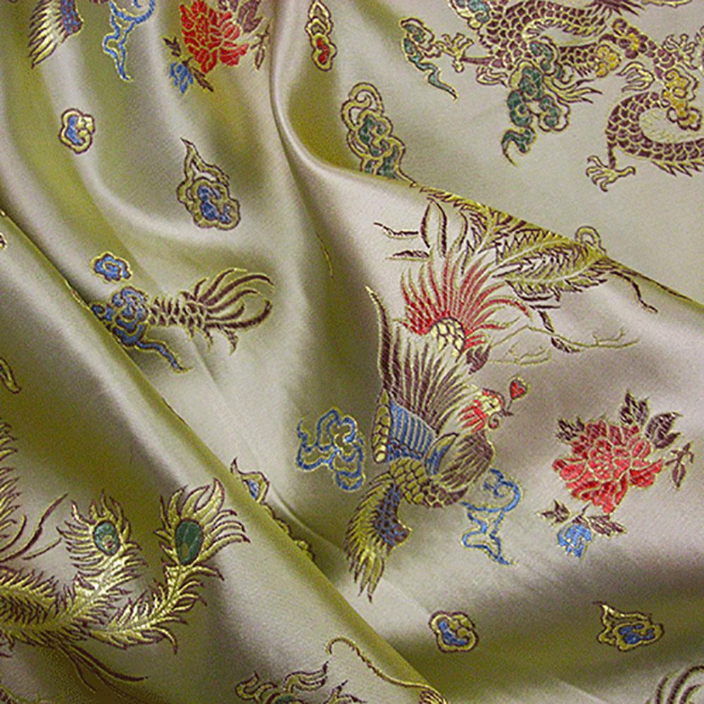 Chinese Dragon Brocade Fabric Uk