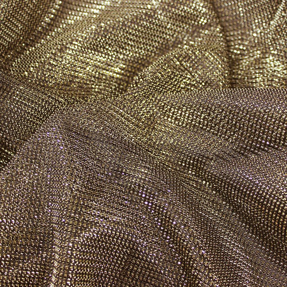 4e2c0517ac8 Lurex Metallic Mesh. Gold Silver/Black