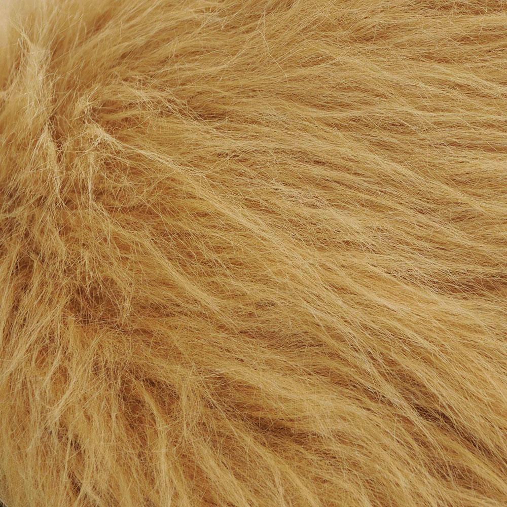 Lions Mane Fur Fabric. Sandy Brown d6601f7cb