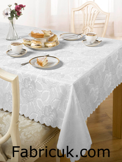 Tablecloth Damask Rose Design Fabric Uk