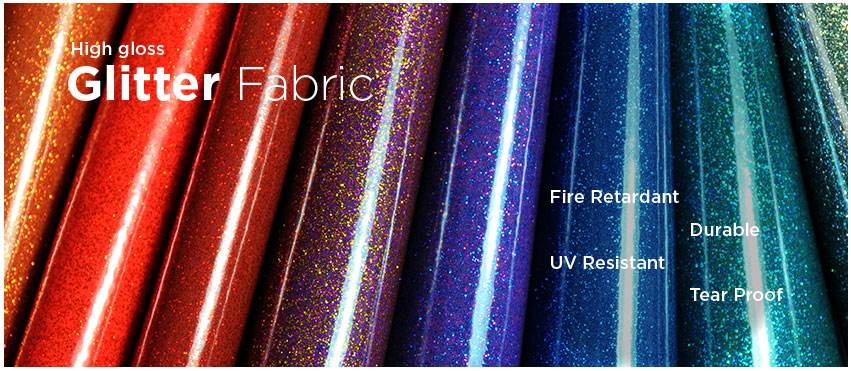 Glitter Gloss Vinyl Leatherette Fabric